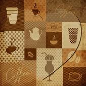 Coffee elements — Stock Vector
