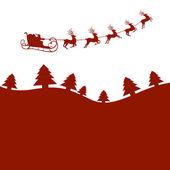 Winter scene - christmas card — Stock Vector