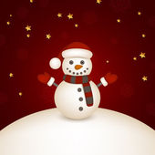 Little snowman — Stock Vector