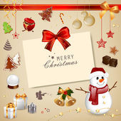 Christmas card — Vetorial Stock
