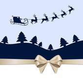 Escena de invierno - tarjeta de navidad — Vector de stock