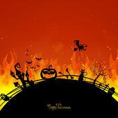 Tarjeta de halloween — Vector de stock
