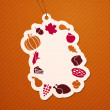 Thanksgiving Tag — Stock Vector