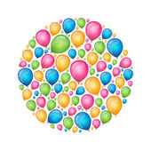 Colorful balloons — Stockvector