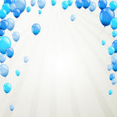 Blue balloons — Stockvector