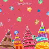 Kartkę z życzeniami urodzinowymi — Wektor stockowy
