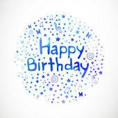 Happy Birthday Greeting Card — Stock Vector