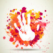 Stockvector : Abstract hand prints