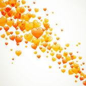Collorful heart balloons — Stock Vector