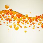Colorful heart balloons — Stock Vector