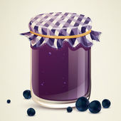 Homemade Blueberry Jam — Stock Vector