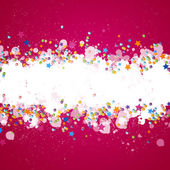 Colorful Confetti — Stock Vector