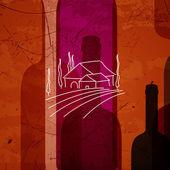 Abstract Wine Background — Stock Vector