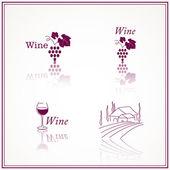 Wine Designs — Stock Vector