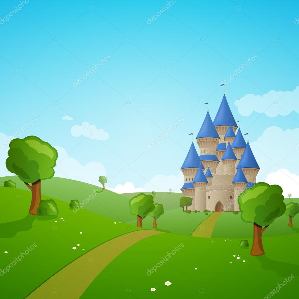 Castello di cartone animato — vettoriale stock