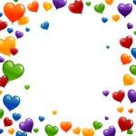 Vector Colorful Heart Balloons — Stock Vector #45374127
