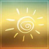 夏の太陽 — ストックベクタ