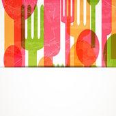 Vector Cutlery Background — Vector de stock