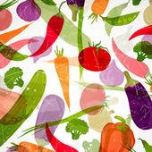 Vektorové pozadí se zeleninou — Stock vektor