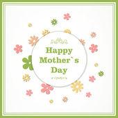 Wektor kartkę z życzeniami dzień matki — Wektor stockowy