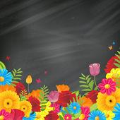 Vector kleurrijke bloemen achtergrond — Stockvector