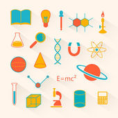 Vector Science Icons — Wektor stockowy