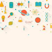 Vektorové pozadí vědy — Stock vektor