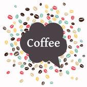 Vector Coffee Background — Stock Vector