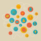 Vektör bilim arka plan — Stok Vektör
