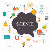科学のベクトルの背景 — ストックベクタ