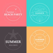 Vector Summer Vacation Emblems — Stock Vector