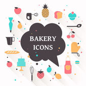Vector Bakery Icons — Stock Vector