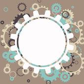 Vector Abstract Cog Wheels — Stockvector