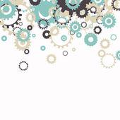 Vector Abstract Cog Wheels — Vector de stock