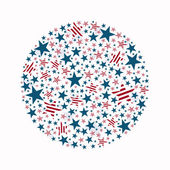 Vector Independence Day Design — Wektor stockowy