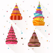 Vector Abstract Birthday Cakes — Stockvector