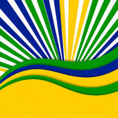 Abstract Brazil Background — Vetor de Stock