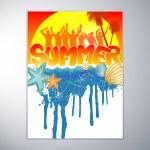 Tropical summer banner — Stock Vector #8775004