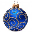 Classic Christmas ball Happy New Year bauble holiday decoration — Stock Photo