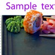 Advertizing leaflet sushi — Stock Photo