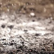 Rain falling on ground HD — Stock Video