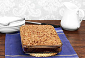 Cajun sheetcake with Praline topping — Stock Photo