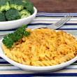Spiral Baked Macaroni and Cheese — Stock Photo