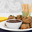 Постер, плакат: Swedish Meatballs and Sauce as an appetizer