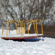 Stock Photo: Playground snowy winters