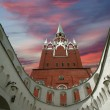Stock Photo: TroitskayTower and Kutafitower, Moscow Kremlin, Russia
