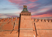 Kremlin Wall that surrounds the Moscow Kremlin, Russia — Stock Photo