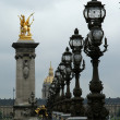 The Alexander III bridge (fragment) - Paris, France — Stock Photo