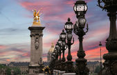 The Alexander III bridge - Paris, France — Stok fotoğraf