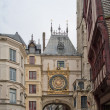 Clock in Rue du Gros-Horloge, Rouen, France — Stock Photo #14239741